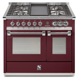 Ascot 100cm Upright Cooker in Burgundy (Ex-Display)