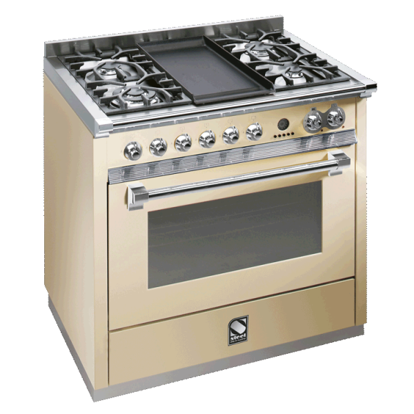Ascot 90cm Combi Steam Upright Cooker A9S-4T