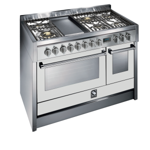Genesi 120cm combi steam cooker with 1 wok & teppanyaki grill G12SF-6T OT