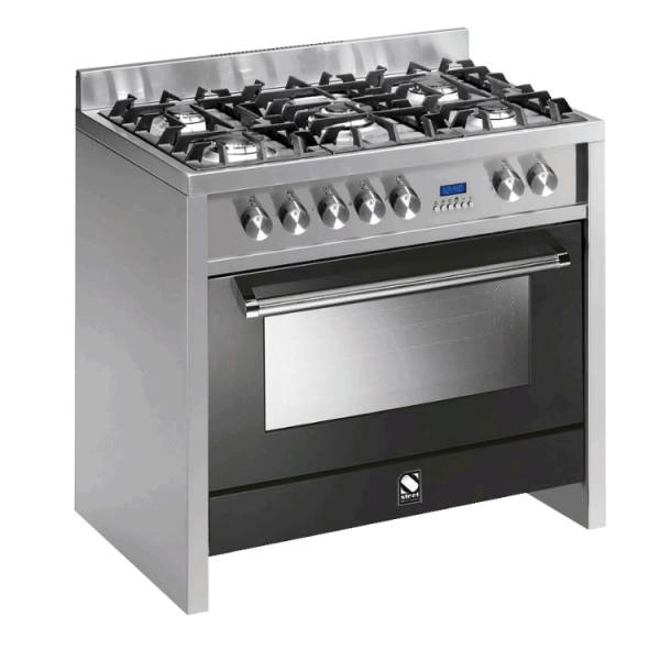 Primo 90cm Multi Function Upright Cooker with 5 Burner Gas Hob (1 Wok) - P9F-5