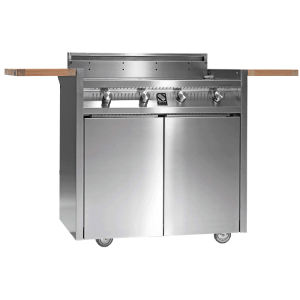 Stainless Steel Cart BBQ With 4 burner grill I9C-4